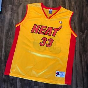 Alonzo Mourning Heat Alternate Champion Jersey 🔥